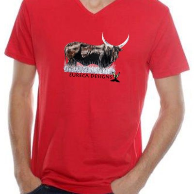 Bees1 - Mens V-Neck - Red