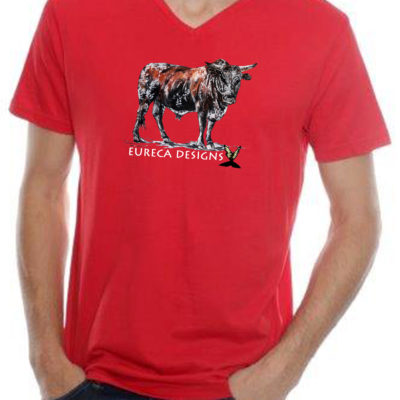 Bees2 - Mens V-Neck - Red