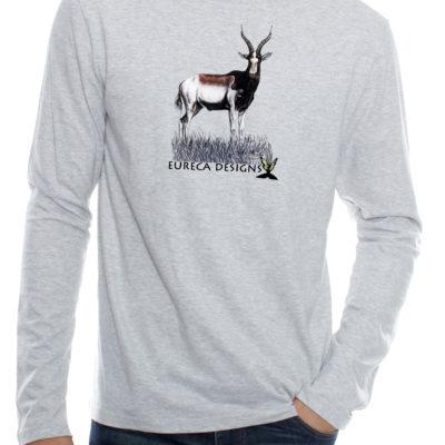 Blesbok1 - Long Sleeve - Grey Melange