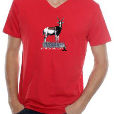 Blesbok1 - Mens V-Neck - Red