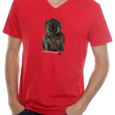 Bobbejaan1 - Mens V-Neck - Red