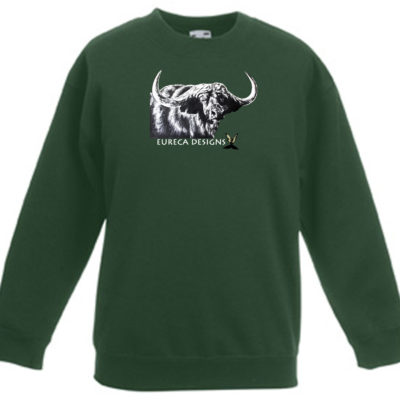 Buffel1 - Kids Sweater - Bottle Green