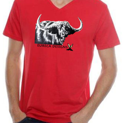 Buffel1 - Mens V-Neck - Red