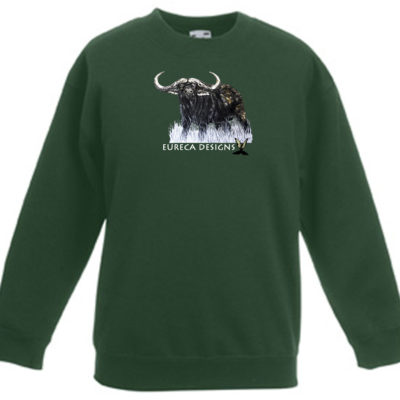 Buffel3 - Kids Sweater - Bottle Green
