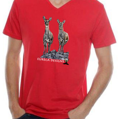 Klipspringer1 - Mens V-Neck - Red