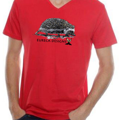 Krimpvarkie1 - Mens V-Neck - Red