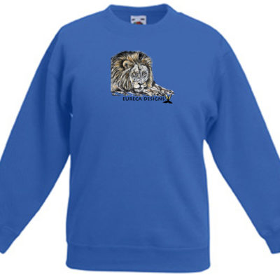 Leeu1 - Kids Sweater - Royal Blue