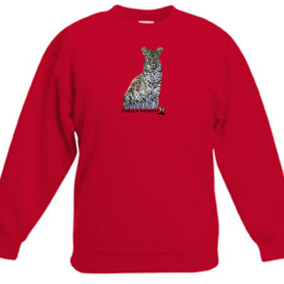 Luiperd1 - Kids Sweater - Red