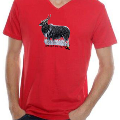 Njala2 - Mens V-Neck - Red