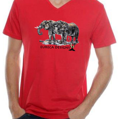 Olifante1 - Mens V-Neck - Red