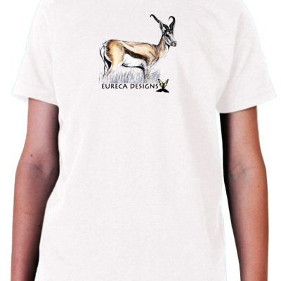 Springbok1 - Kids Crew Neck - White