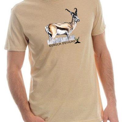 Springbok1 - Mens Crew Neck - Oatmeal Melange