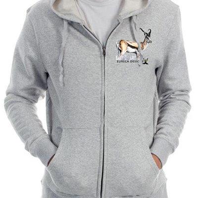 Springbok1 - Zip Thru Hoodie - Grey Melange